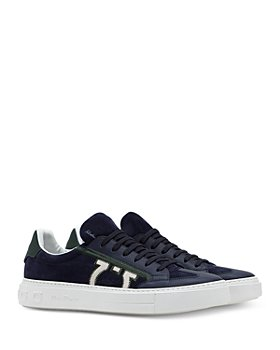 Salvatore Ferragamo - Men's Embroidered Gancini Low Top Sneakers