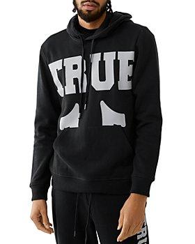 True Religion - Cotton Blend Logo Print Hoodie