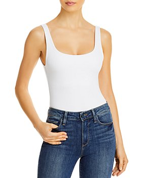 Good American - Square-Neck Tank Bodysuit