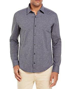 HUGO - Ermo Mélange Stretch Jersey Regular Fit Performance Button Up Shirt