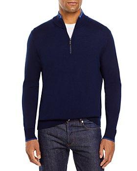 Michael Kors - Quarter Zip Merino Wool Sweater