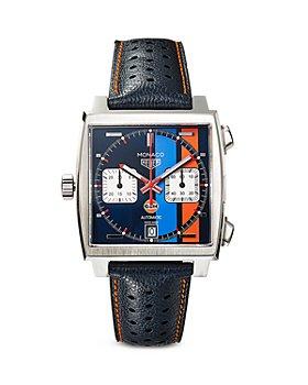 TAG Heuer - Monaco Gulf Calibre 11 Automatic Men's Blue Leather Chronograph, 39mm