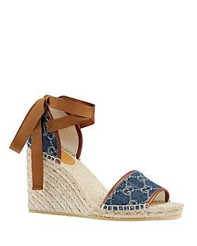 Gucci - Women's Pilar Open-Toe Platform Espadrilles