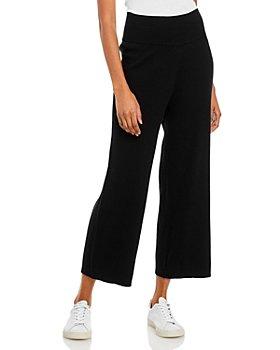 AQUA - Wide Leg Ribbed Knit Pants - 100% Exclusive