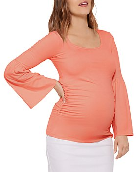 Stowaway Collection - Bell Sleeve Maternity Top