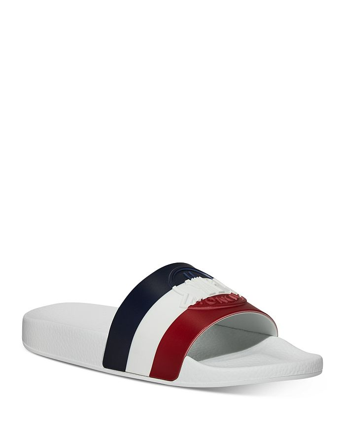 Moncler - Women's Jeanne Striped Slide Sandals