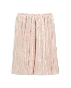 AQUA - Girls' Plisse Metallic Skirt, Big Kid - 100% Exclusive