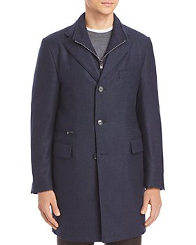 Corneliani - ID Houndstooth Topcoat with Zip-Out Bib