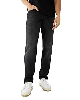 True Religion - Geno Super T Slim Fit Jeans in Midnight Rider Black Wash
