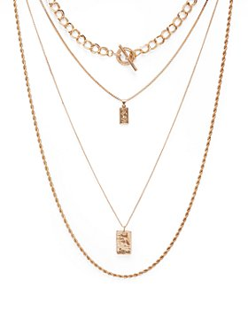 "AQUA - Four-Layer Coin Pendant Necklace, 18"" - 100% Exclusive"