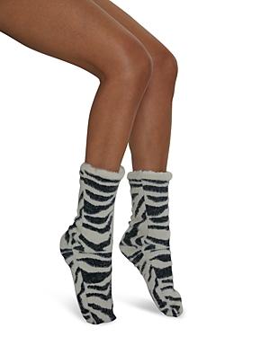 Snow Tigress Faux Fur Slipper Socks