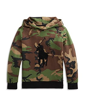 Ralph Lauren - Boys' Camouflage Logo Hoodie - Little Kid, Big Kid