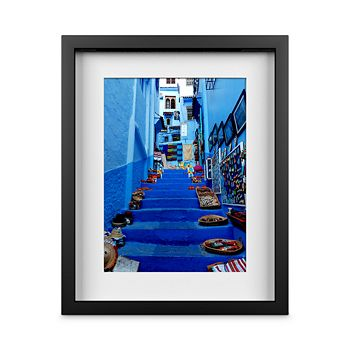 """Whom Home - Blue Stairway Wall Art, 13"""" x 16"""""""