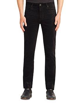 MONFRÈRE - Velvet Slim Straight Jeans in Noir