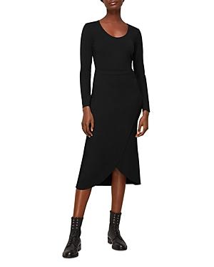 Whistles Jersey Knit Faux Wrap Ballet Midi Dress