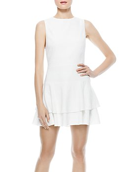 Alice and Olivia - Palmira Sleeveless Ruffle Dress