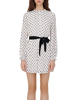 Maje - Rely Polka Dot Shirt Dress