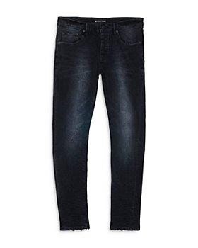 Purple Brand - P001 Slim Fit Jeans in Black Wash