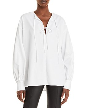Jason Wu - Long Sleeve Tie Neck Blouse