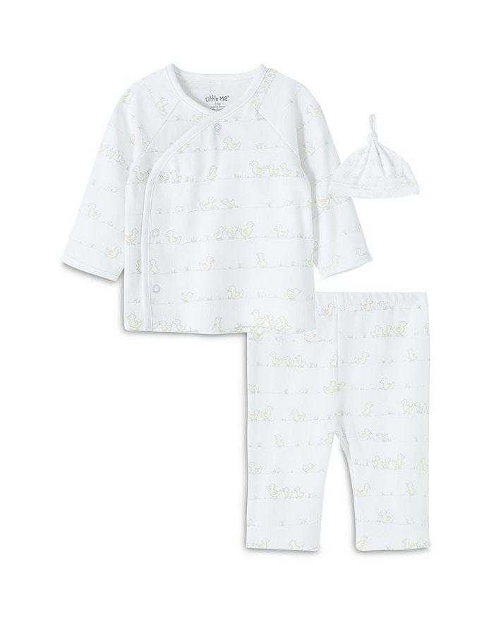Little Me - Boys' Duck Print Hat, Wrap Shirt & Pants Set - Baby