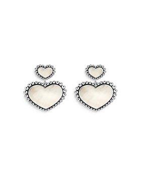 LAGOS - Sterling Silver Maya Mother of Pearl Heart Inlay Drop Earrings