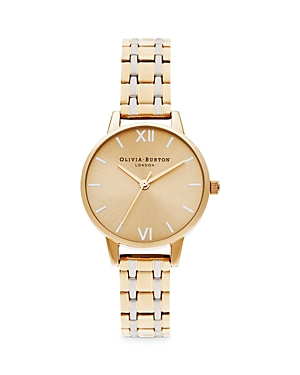 Olivia Burton England Collection Two Tone Bracelet Watch, 30mm