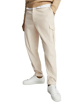 REISS - Flo Garment Dyed Chunky Corduroy Tapered Fit Trousers