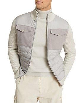 REISS - Miller Hybrid Zip-Up Jacket