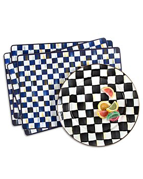 Mackenzie-Childs - Royal Check Cork Back Placemats, Set of 4