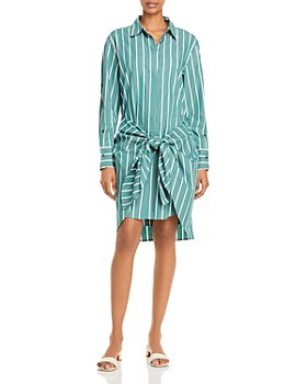 Derek Lam 10 Crosby - Charlotte Cotton Tie Waist Shirt Dress