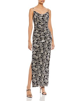 Laundry by Shelli Segal - Floral Velvet Gown