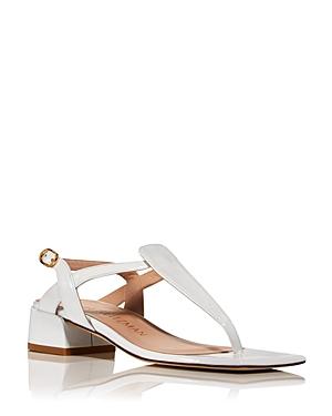 'Stuart Weitzman Women's Cayla T Strap Block Heel Sandals