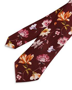 Ted Baker - Bold Floral Print Silk Skinny Tie