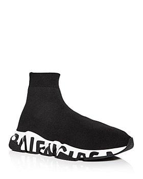 Balenciaga - Men's Speed Graffiti Knit High Top Sneakers