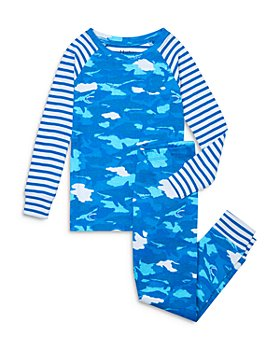 Hatley - Boys' Cotton Shark Camo Printed Pajama Set - Little Kid, Big Kid