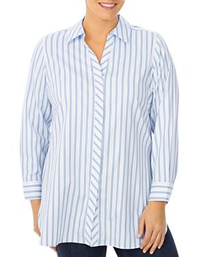 Vera Striped Shaped Tunic Shirt