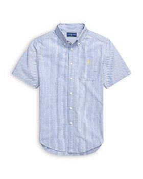 Ralph Lauren - Boys' Short Sleeve Seersucker Striped Shirt - Little Kid, Big Kid