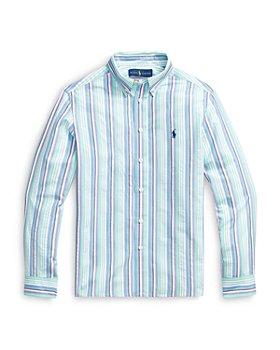 Ralph Lauren - Boys' Multicolor Striped Seersucker Shirt - Little Kid, Big Kid