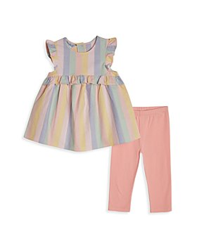 Pippa & Julie - Girls' Chambray Stripe Top & Leggings Set - Little Kid