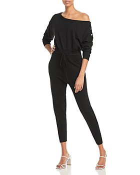 AQUA - Off-the-Shoulder Knit Jumpsuit - 100% Exclusive