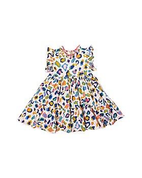 Pink Chicken - Girls' Jennifer Leopard Print Cotton Dress - Little Kid