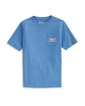 Vineyard Vines - Boys' Short Sleeve Burger Whale Fill Pocket Tee - Little Kid, Big Kid
