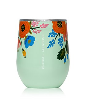 Corkcicle - Lively Floral Stemless Wine Cup