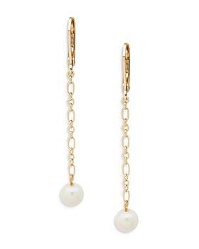 Ralph Lauren - Imitation Pearl Linear Drop Earrings