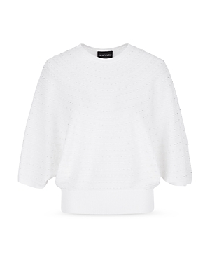 Faux Pearl Accented Sweater