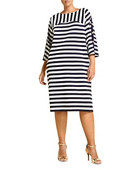 Marina Rinaldi - Occhiali Striped Jersey Dress