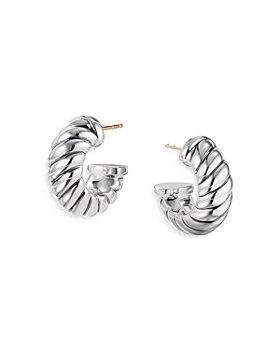 David Yurman - Sterling Silver Cable Classics Shrimp Earrings