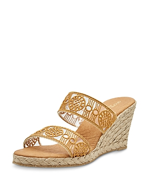 Women's Anja Decorated Double Strap Espadrille Wedge Sandals