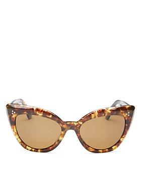Oliver Peoples - Women's Laiya Polarized Cat Eye Sunglasses, 55mm