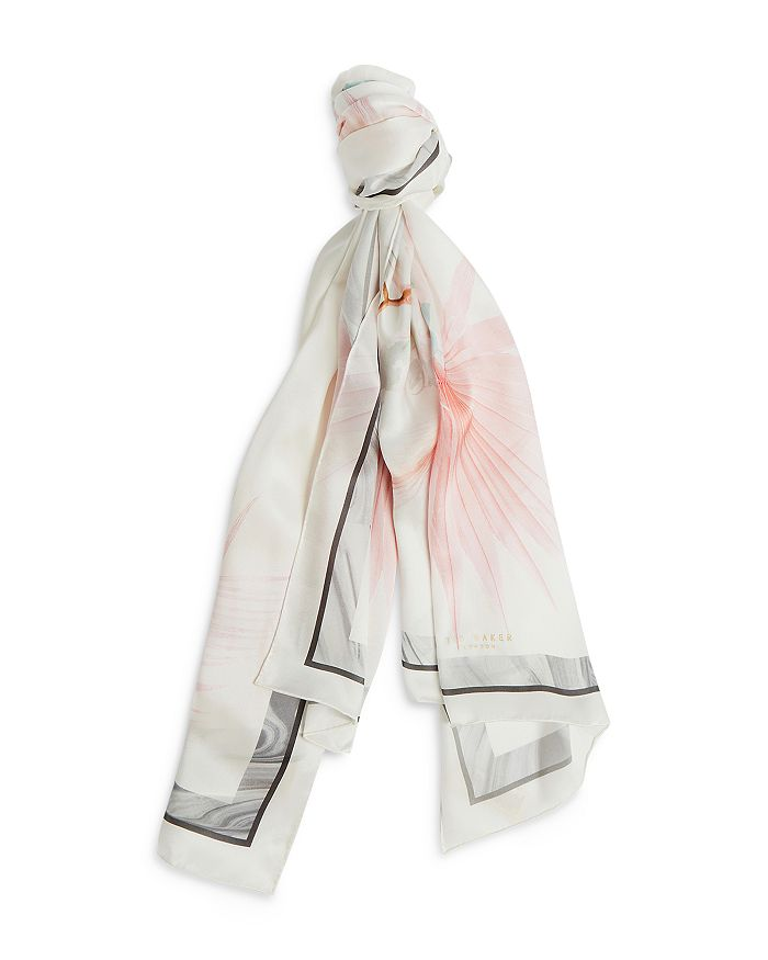 Ted Baker Scarves DECADENCE FLORAL PRINT LONG SCARF